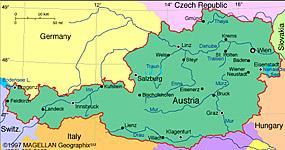 Vremea - Starea vremii in Austria, temperatura curenta