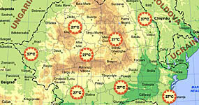 Vremea - Starea vremii in Romania, temperatura curenta - prognoza meteo pe 10 zile